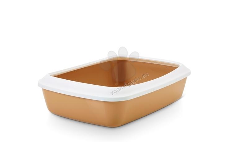 Savic Iriz - открита котешка тоалетна с борд / синя, зелена, сива, розова, кафява / 42 / 30.5 / 10 см.