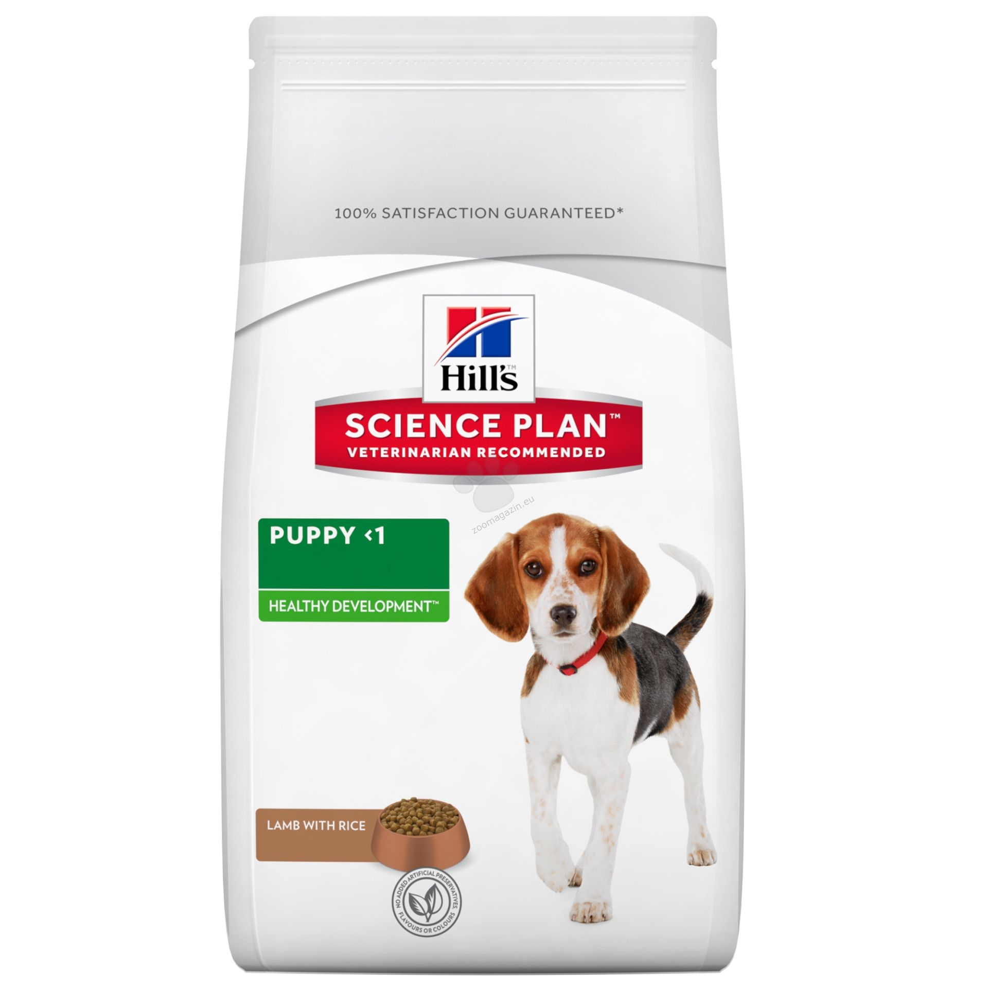 Science Plan Puppy Lamb & Rice - агнешко месо и ориз - Кученца от всички породи на възраст от отбиването до 1 години, бременни и кърмещи кучета 3 кг.