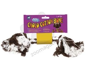 Pet Brands Choco-Cotton Bone - Medium - въже с аромат на шоколад