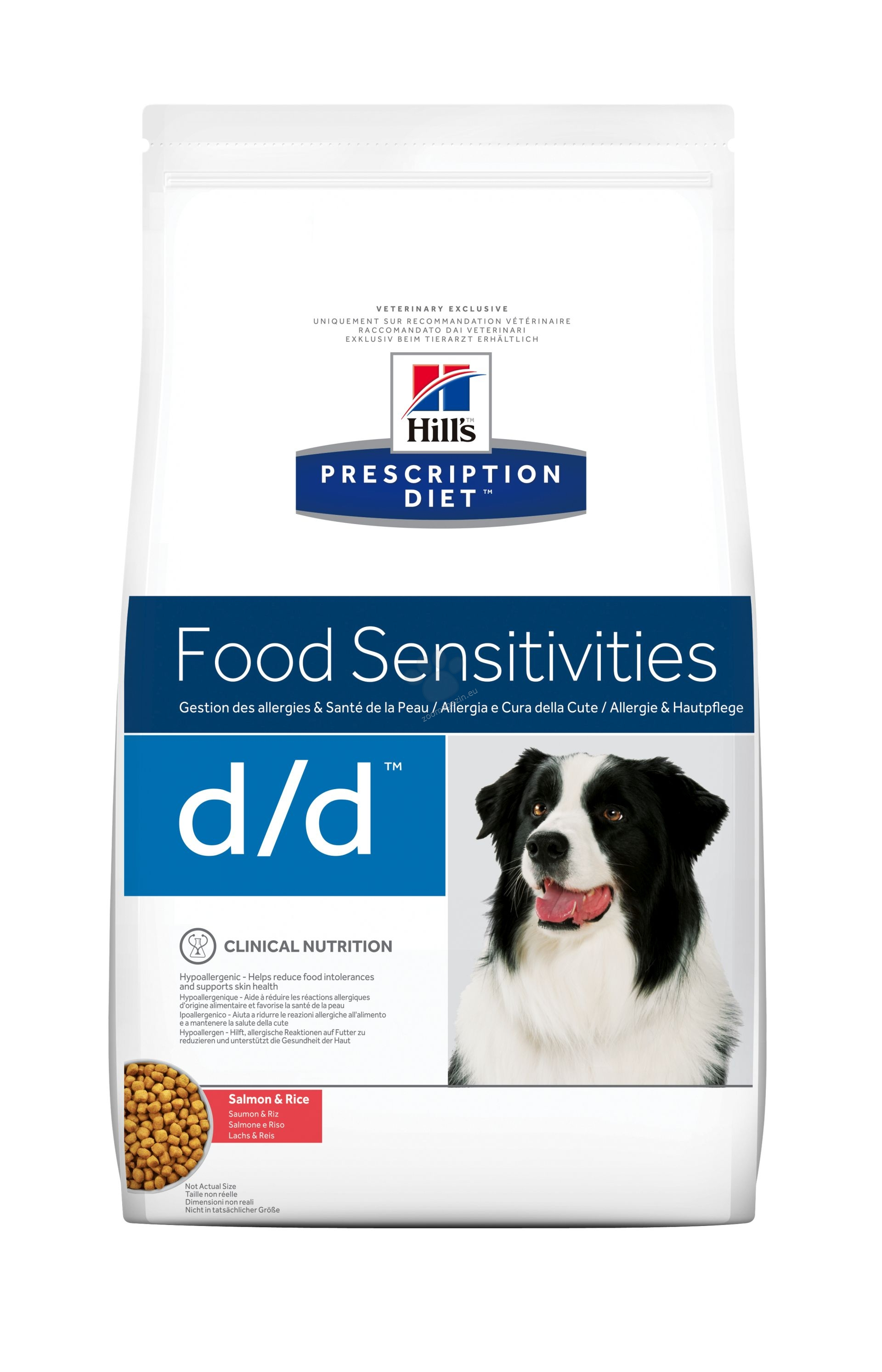Hills Prescription Diet d/d Salmon & Rice - хранителни алергии 2 кг.