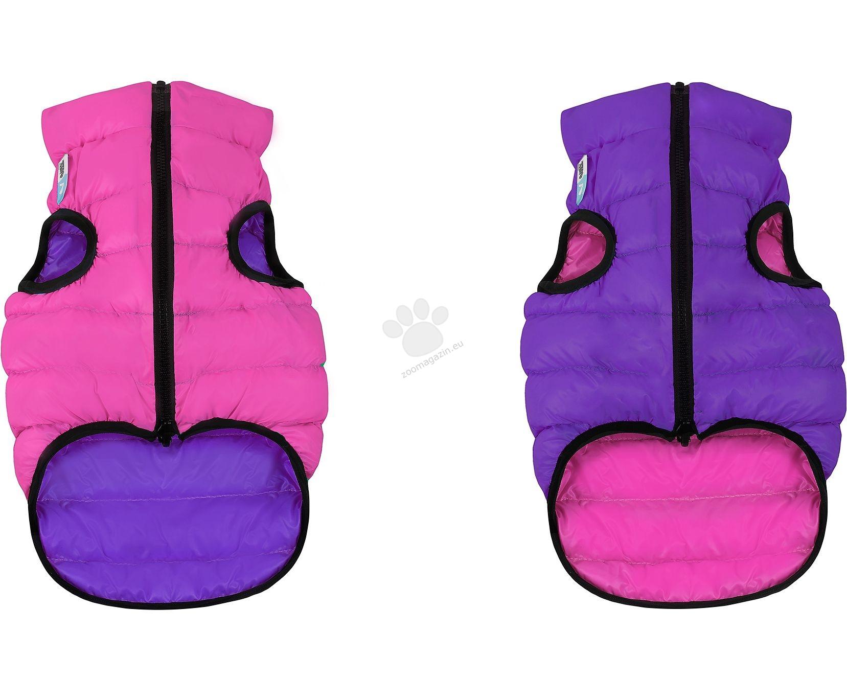 Airy Vest XS - двустранно олекотено кучешко яке, за кучета с дължина на гърба 25 см. / розово-лилаво /