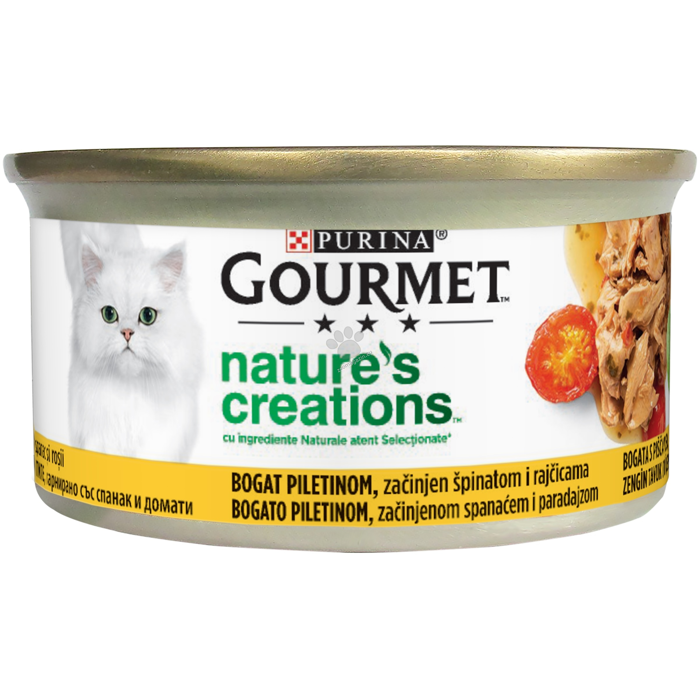 Gourmet Gold Natures Creations Chicken - пилешко месо със спанак и домати 85 гр.