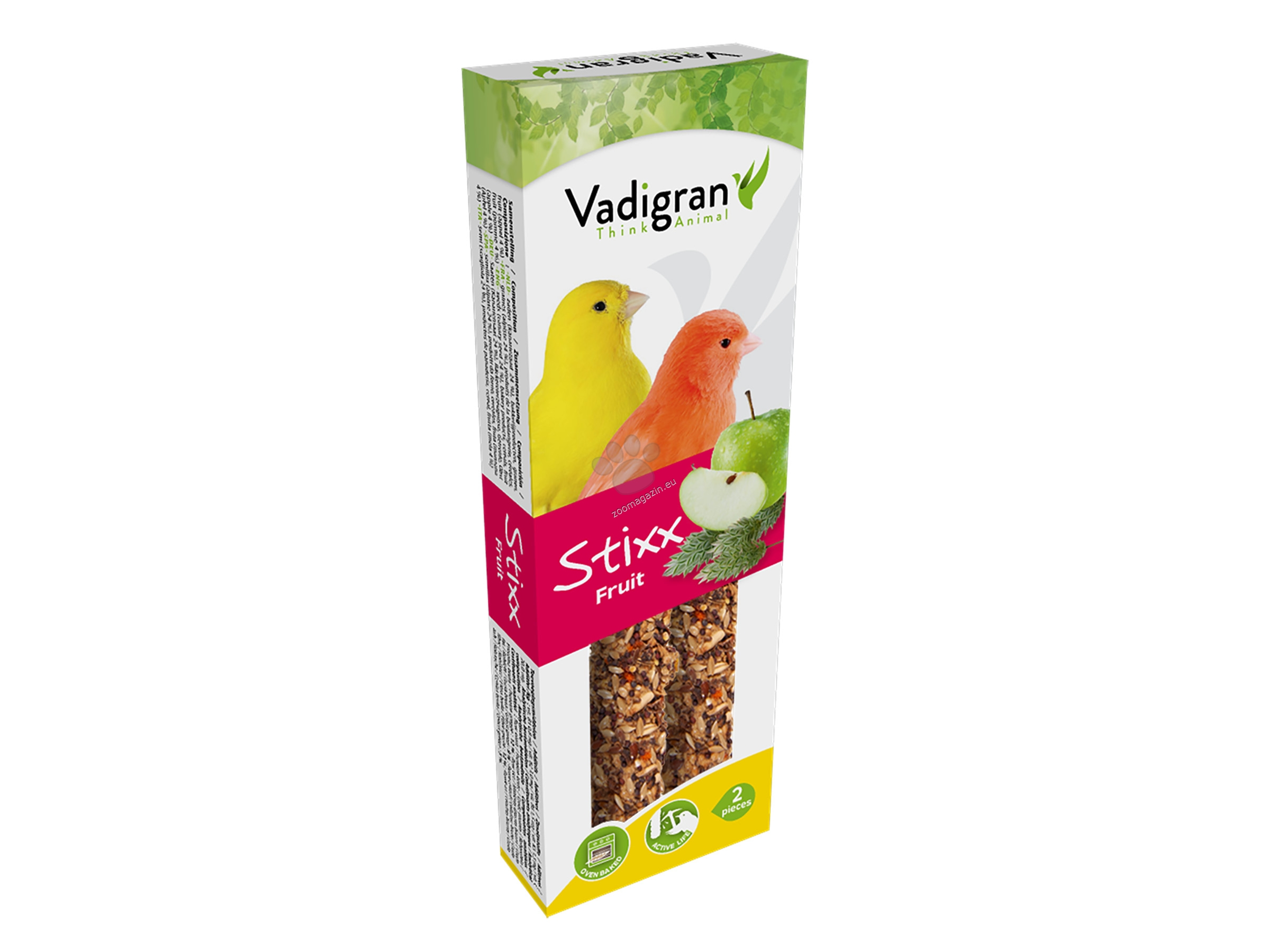 Vadigran Snack StixX canaries fruit - крекер с плодове 85 гр., 2 броя