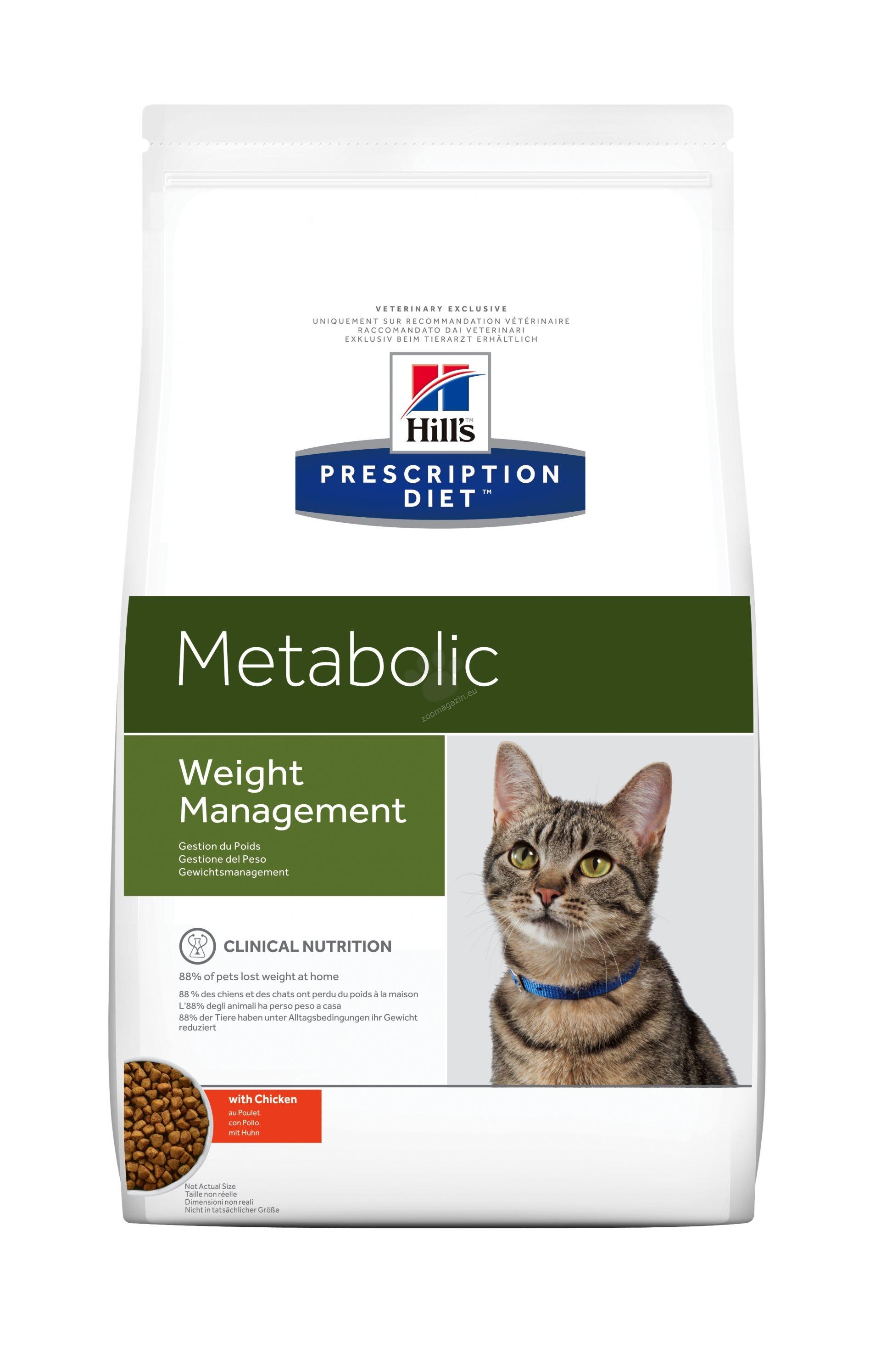 Hills Prescription Diet Metabolic Feline - диета за намаляване на наднормено телесно тегло при котки 4 кг.
