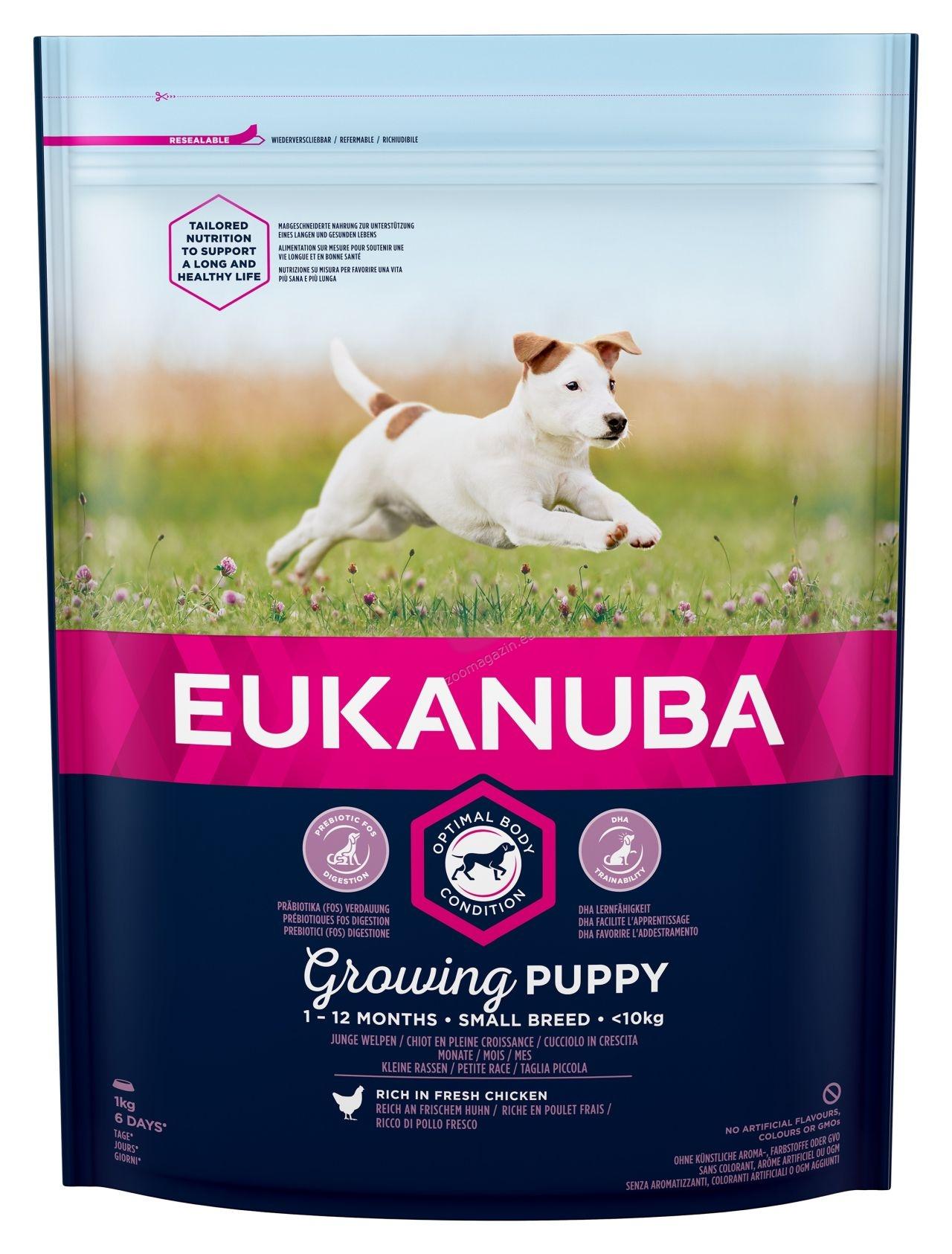 Eukanuba Puppy Chicken Small Breed - за кучета малки породи до 10 кг и възраст от 1 до 12 месеца  1 кг.