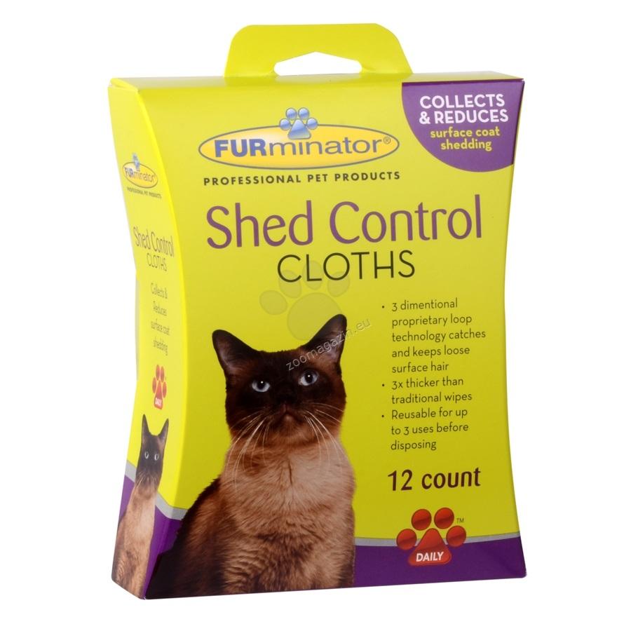 Furminator Cat Shed Control Cloth - мокри кърпички против падане на козината 12 броя
