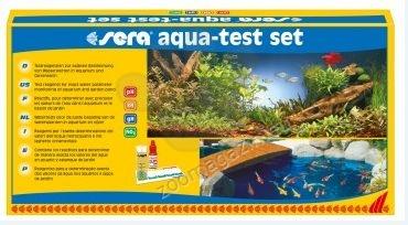Sera aqua test set - тестове за точно определяне на: pH ( 4,5 до 9.0); GH; KH; NO2 в сладко- и соленоводни аквариуми