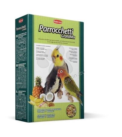 Padovan Grandmix parrochetti - пълноценна храна за средни папагали с плодове 400 гр.