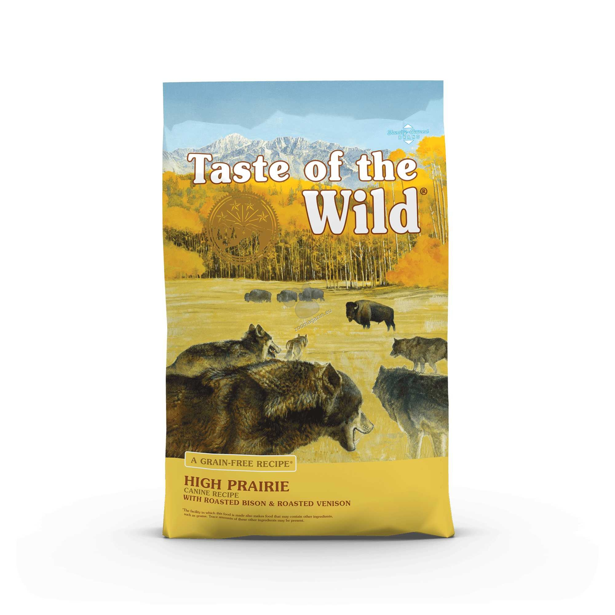 Taste of the Wild High Prairie Canine Formula with Roasted Bison & Roasted Venison - храна за кучета с печено еленско и бизонско месо 13 кг.