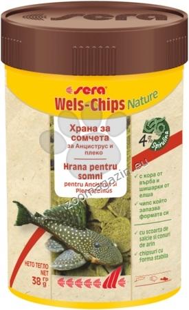Sera Nature Wels Chips - за придънни рибки с върба и елша 100 мл. / 38 гр.