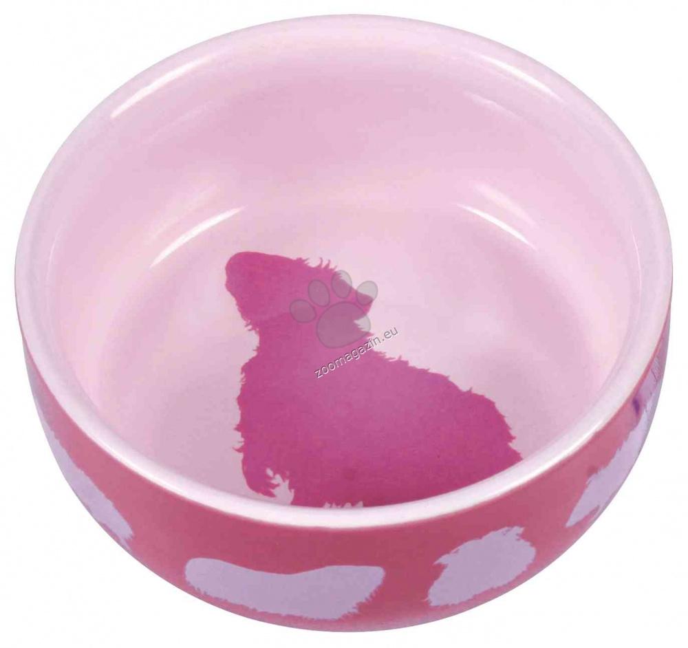 Тtrixie Ceramic Bowl Guinea Pig - керамична купичка 250 мл. / кафява, розова, синя /