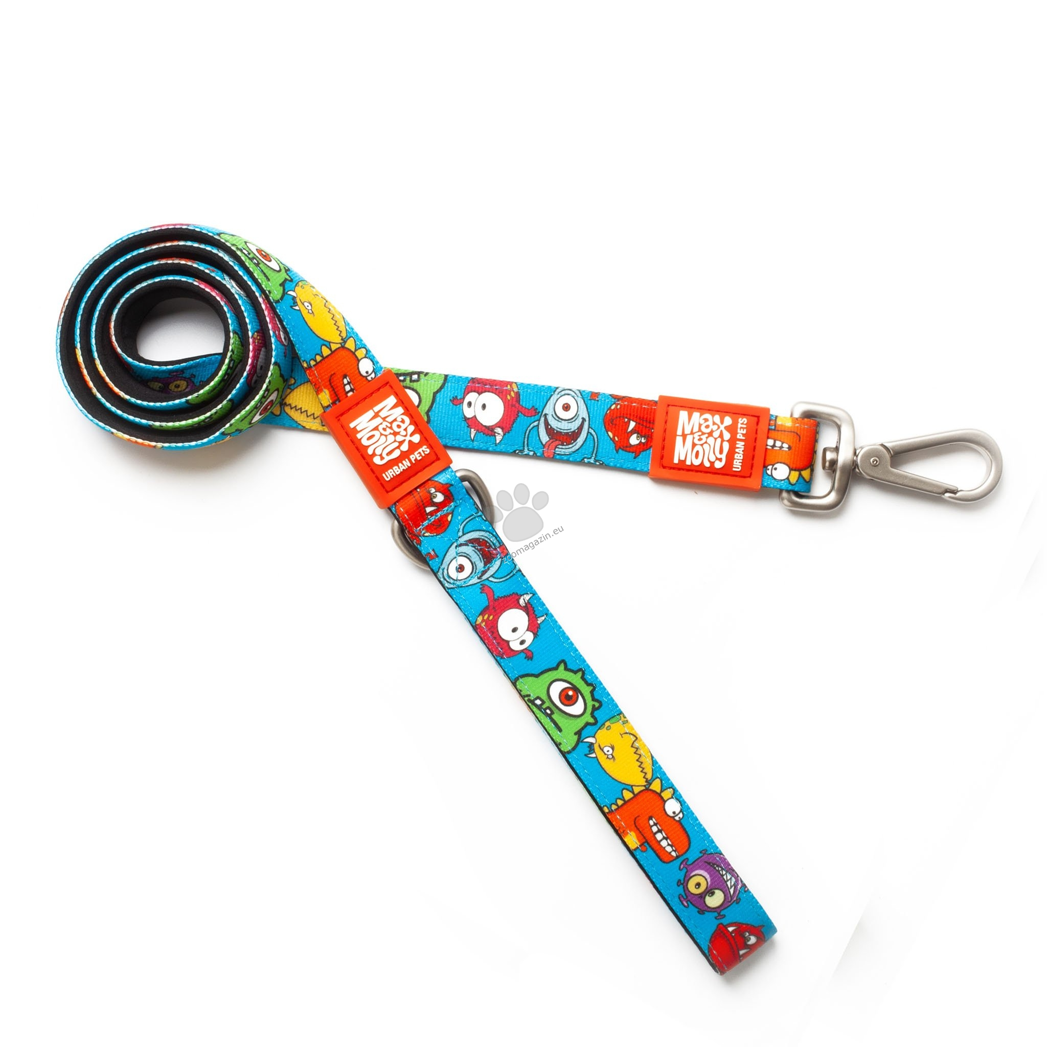 Max Molly Short Leash Little Monsters L - повод 120 см. / 25 мм.