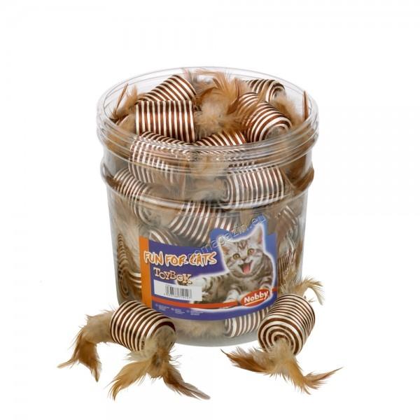 Nobby Zylinder braun-beige - котешка играчка 5 см.