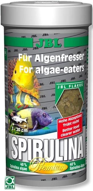 JBL Premium Spirulina - основна храна за растителноядни риби 250 мл