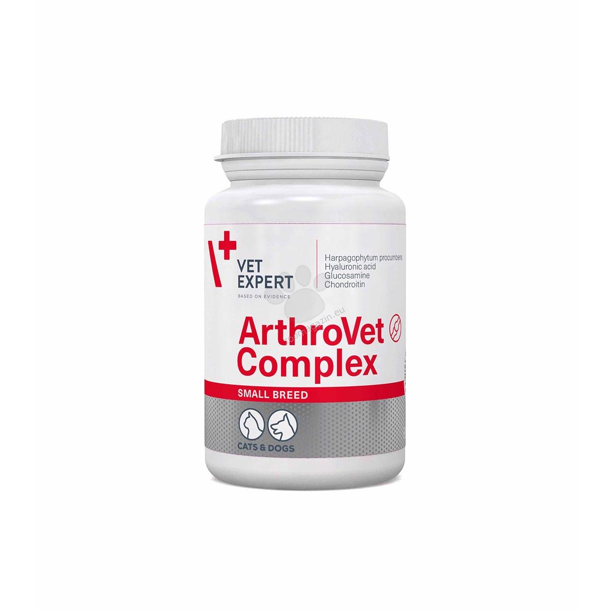 Vetexpert - Arthrovet Complex Small Breed - уникална формула за цялостен ефект, за кучета малки породи 60 капсули
