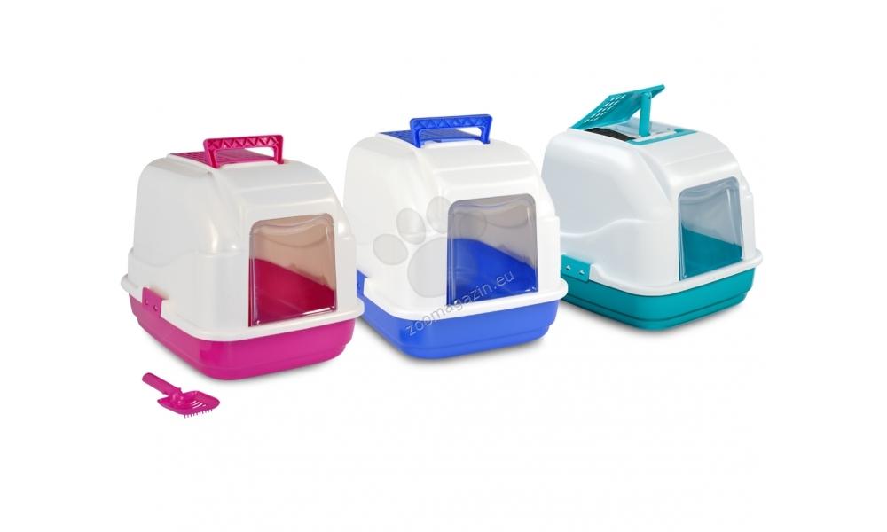 Camon Eassy Liter Box - κλειστή τουαλέτα γάτας / ροζ, μπλε, πράσινο / 48/38/40 εκ.