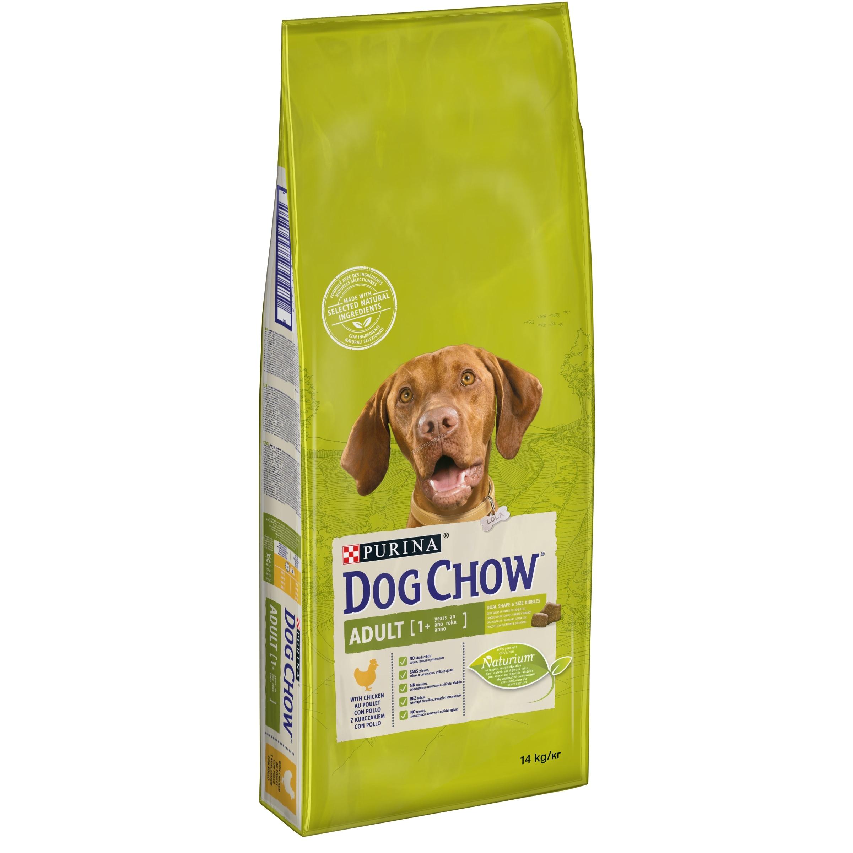 Dog Chow Аdult - пълноценна храна с пилешко месо, за кучета над 12 месеца 14 кг.