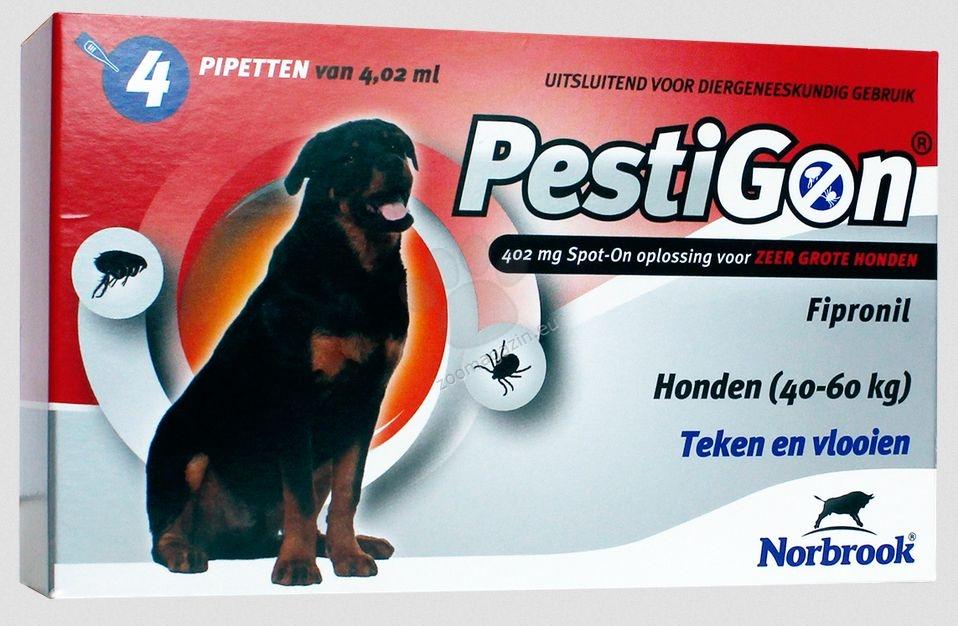 Norbrook Pestigon 402 mg spot-on - за кучета с тегло от 40 до 60 кг. / кутия с четири броя пипети /
