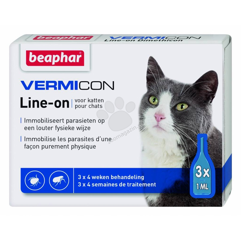 Beaphar Vermicon Line On - противопаразитни ампули спот он 3 броя