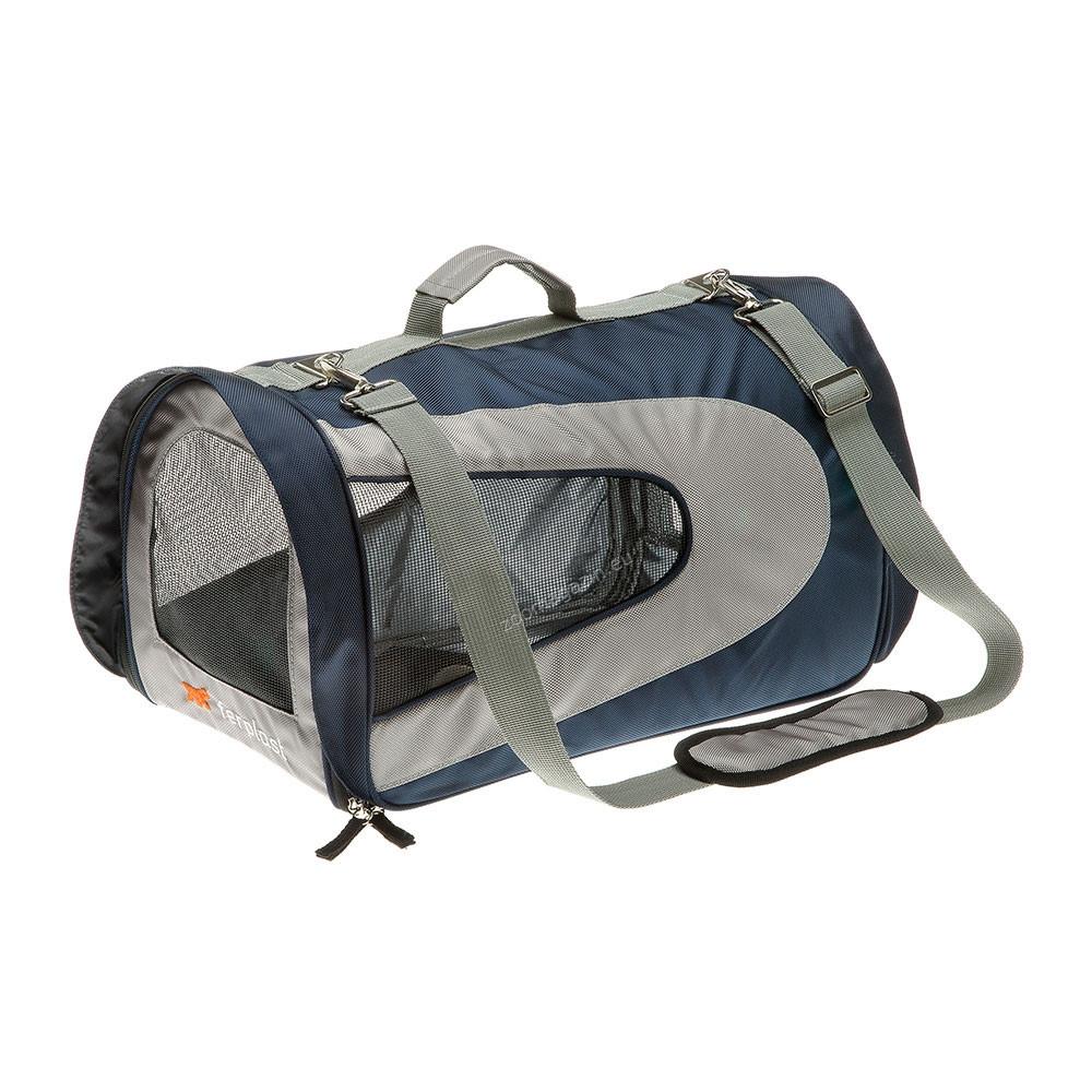 Ferplast - Beauty Small - транспортна чанта от плат  / синя, светло синя, розова / 42 / 24 / 27 cm