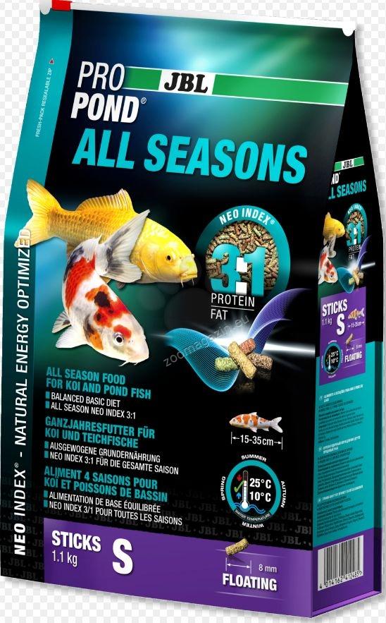 JBL Pro Pond All Seasons S - всесезонна храна за риби 15 - 35 см. 5.8 кг.