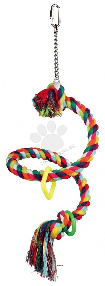 Trixie - Spiral Rope Perch - спирала въже с камбанка 50 см.