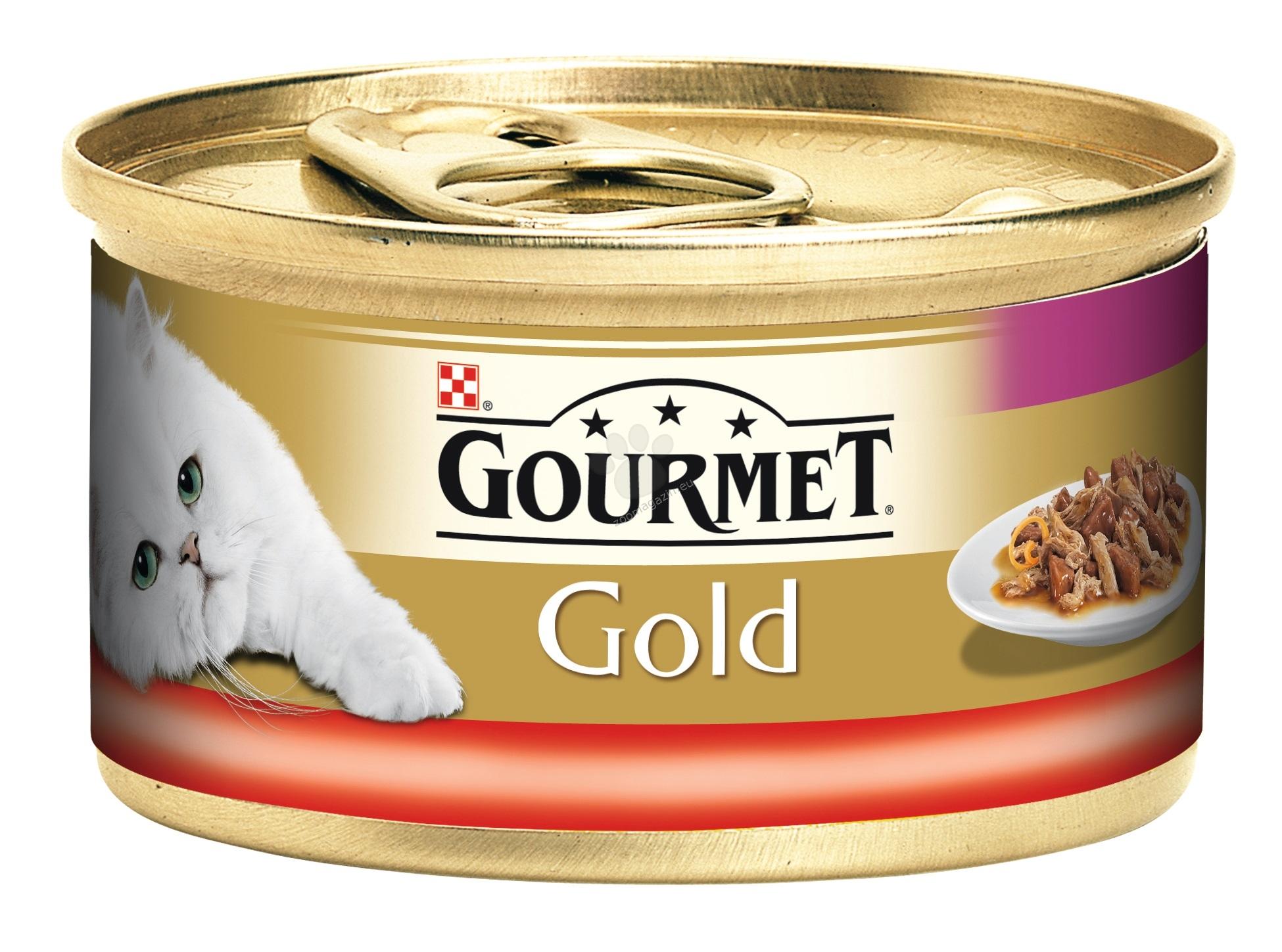 Gourmet Gold Double pleasure Beef Chicken - двойно удоволствие говеждо и пиле - 24 x 85 гр / стек /