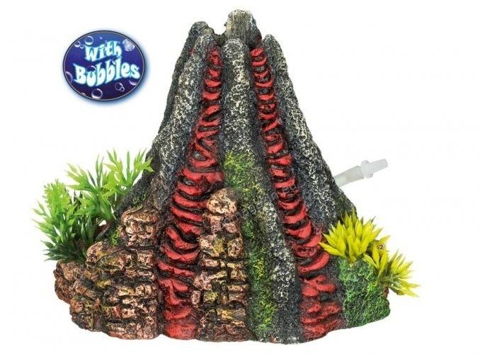 Nobby Volcano - декорация за аквариум с възможност за включване на помпичка за кислород 14 / 13 / 12.5 см.