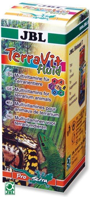 JBL TerraVit Fluid - мултивитамини за терариумни животни /течност/ 50 мл.