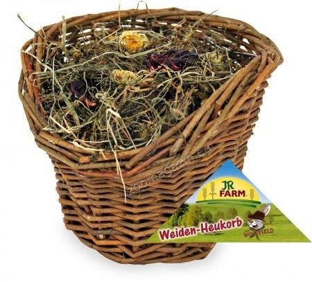 JR Farm - върбова кошница със сено- допълнителна храна за мини зайци, морски свинчета, плъхове, хамстери, мишки, чинчили и дегу 120 грама