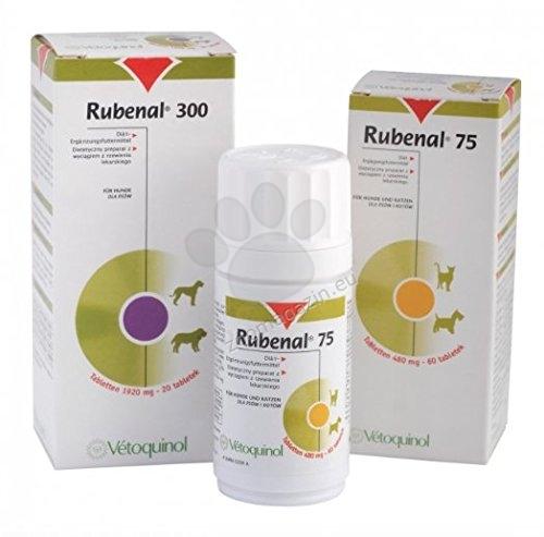 Vetoquinol - Rubenal / рубенал / - хранителна добавка за кучета с хронична бъбречна недостатъчност 300 мг. / 60 таблетки