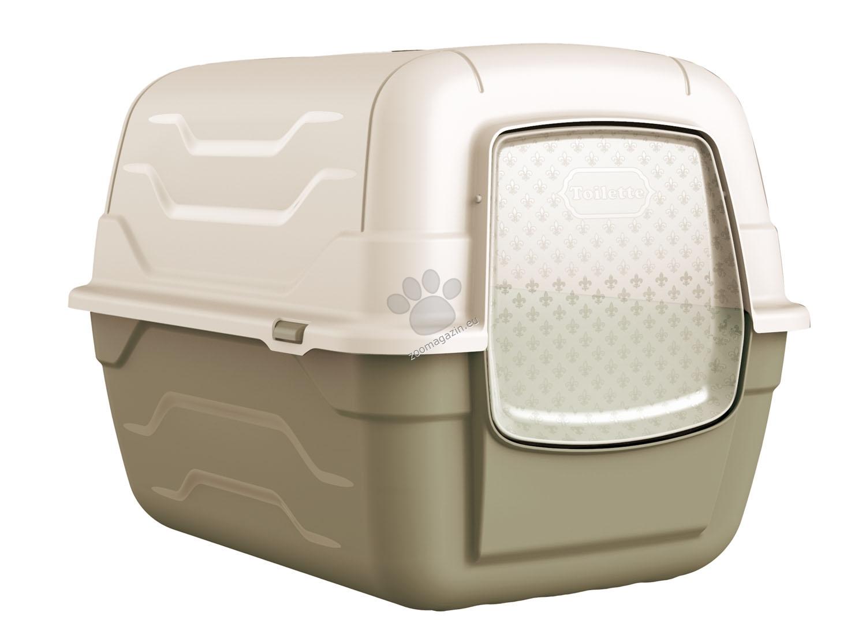 Georplast - Roto - закрита котешка тоалетна 52 / 40 / 40 см. / сива, синя , розова /