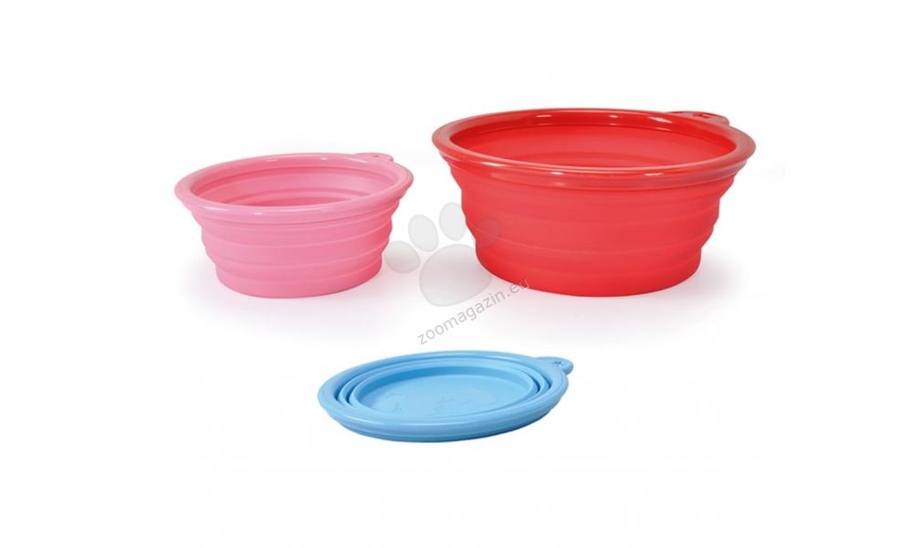 Camon Silicone travel bowl - сгъваема силиконова купичка за пътуване 350 мл. / червена, зелена, жълта /