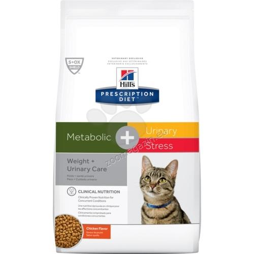 Hills Prescription Diet Metabolic + Urinary Stress Feline – ново поколение диета за намаляване на наднормено тегло и профилактика на уринарния тракт 250 гр.