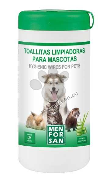 Menforsan Hygienic Wipes for Pets with Aloe-Vera - хигиенни мокри кърпички 60 броя