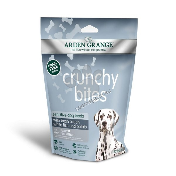 Arden Grange - Crunchy Bites Sensitive - хрупкави бисквити с прясна океанска риба 225 гр.