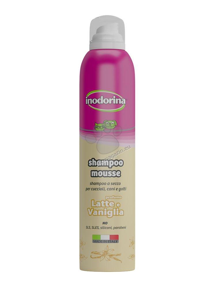 Inodorina Shampoo Mousse - шампоан с мляко и ванилия 300 мл.