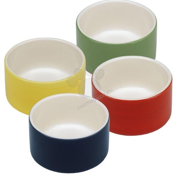 Ferplast - Giove - керамична купичка / червена, зелена, жълта, синя / Ø 9.9 / 5.2 cm - 0.25 L