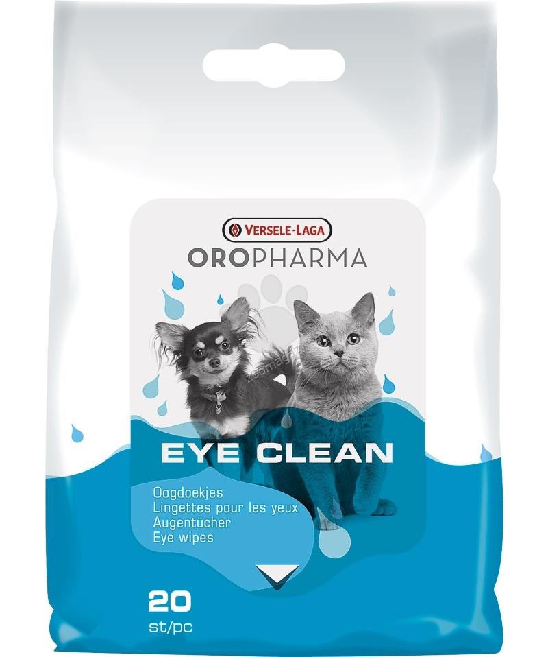 Versele Laga - Eye Clean Cat/Dog - напоени с лосион кърпички за ежедневна грижа за очите на кучето и котето 20 броя