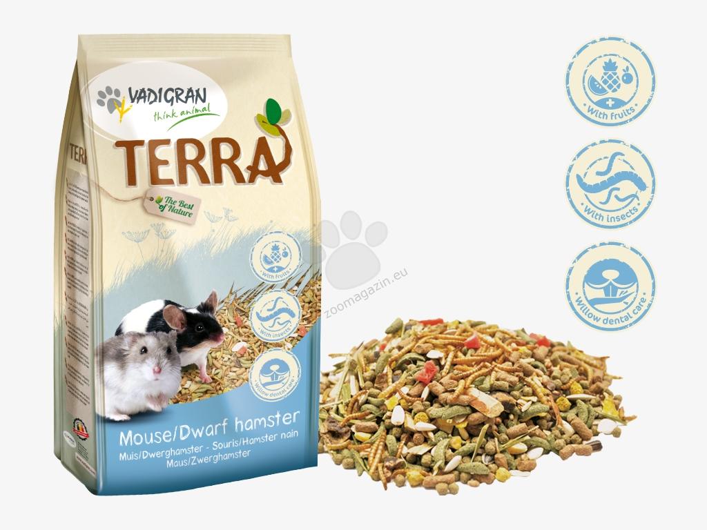 Vadigran - Terra Mouse Dwarf Hamster Super Premium - пълноценна храна за мишки и мини хамстери 700 гр.
