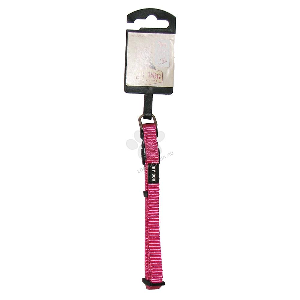 My Dog - нашийник със широчина 10 мм., за кучета с обиколка на врата 20 - 35 см. / розов /