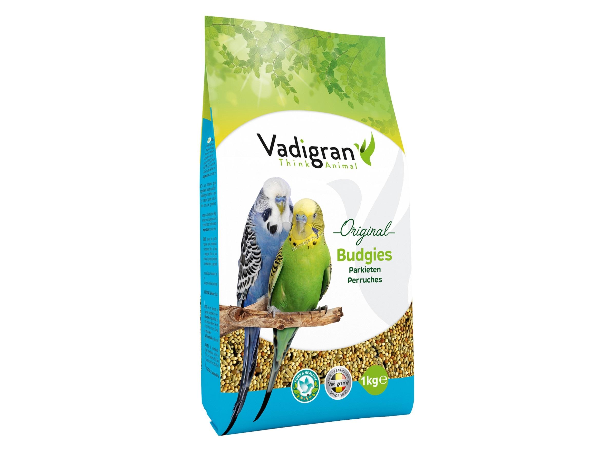Vadigran - Original Budgies - пълноценна храна за вълнисти папагали 1 кг.