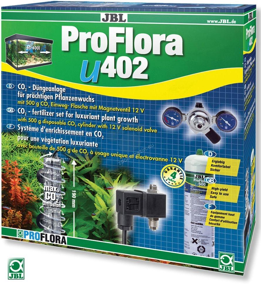 JBL ProFlora u402 - професионална система за въглероден двуокис с бутилка 500 грама за еднократна употреба, за аквариуми до 400 литра