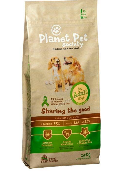 Planet Pet Society Adult - пълноценна храна за кучета от средни породи /10-30 кг/, и възраст над 12 месеца, 15 кг.