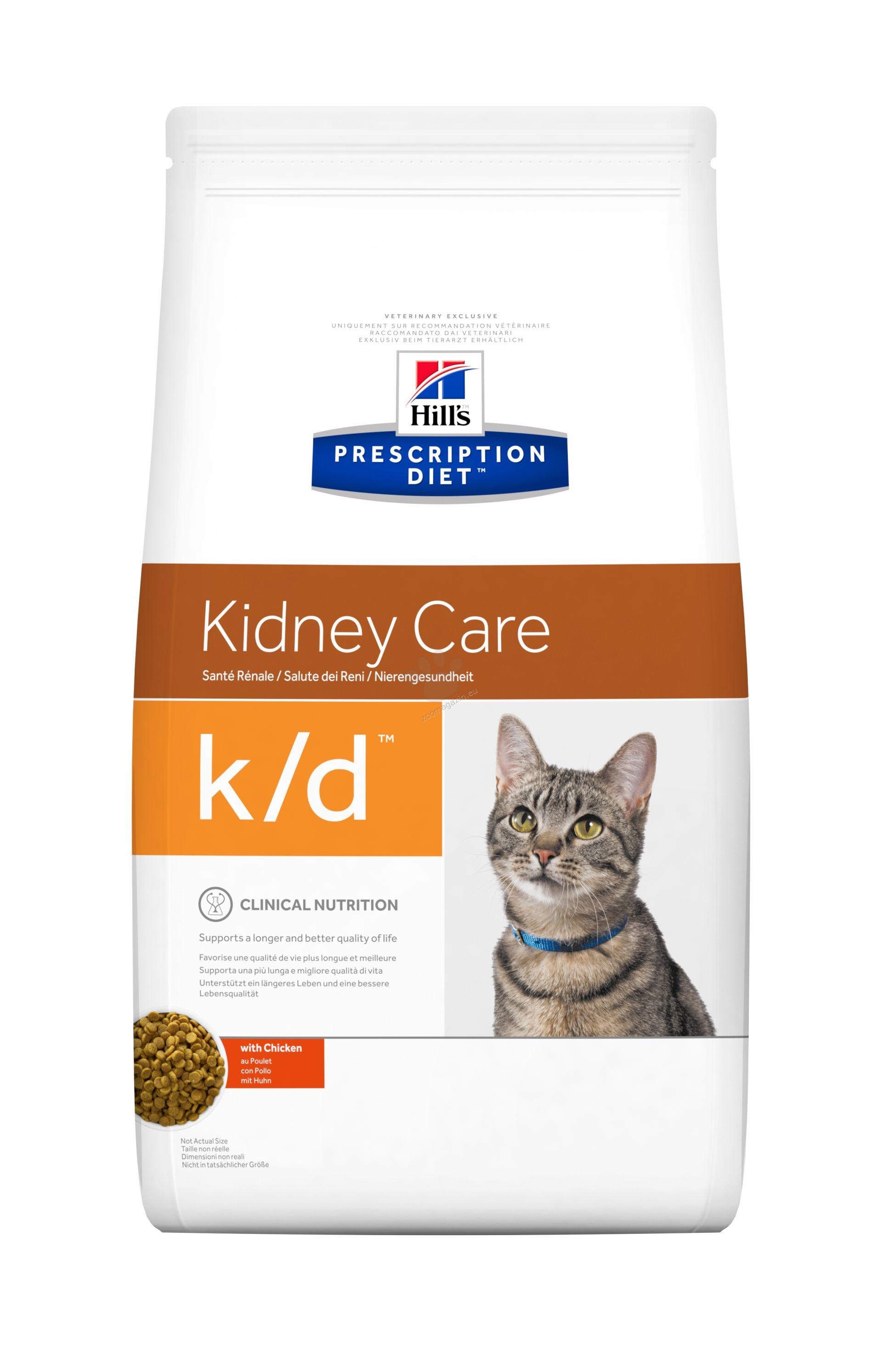 Hills Prescription Diet k/d Feline - диета при хронична бъбречна недостатъчност при котки 5 кг.
