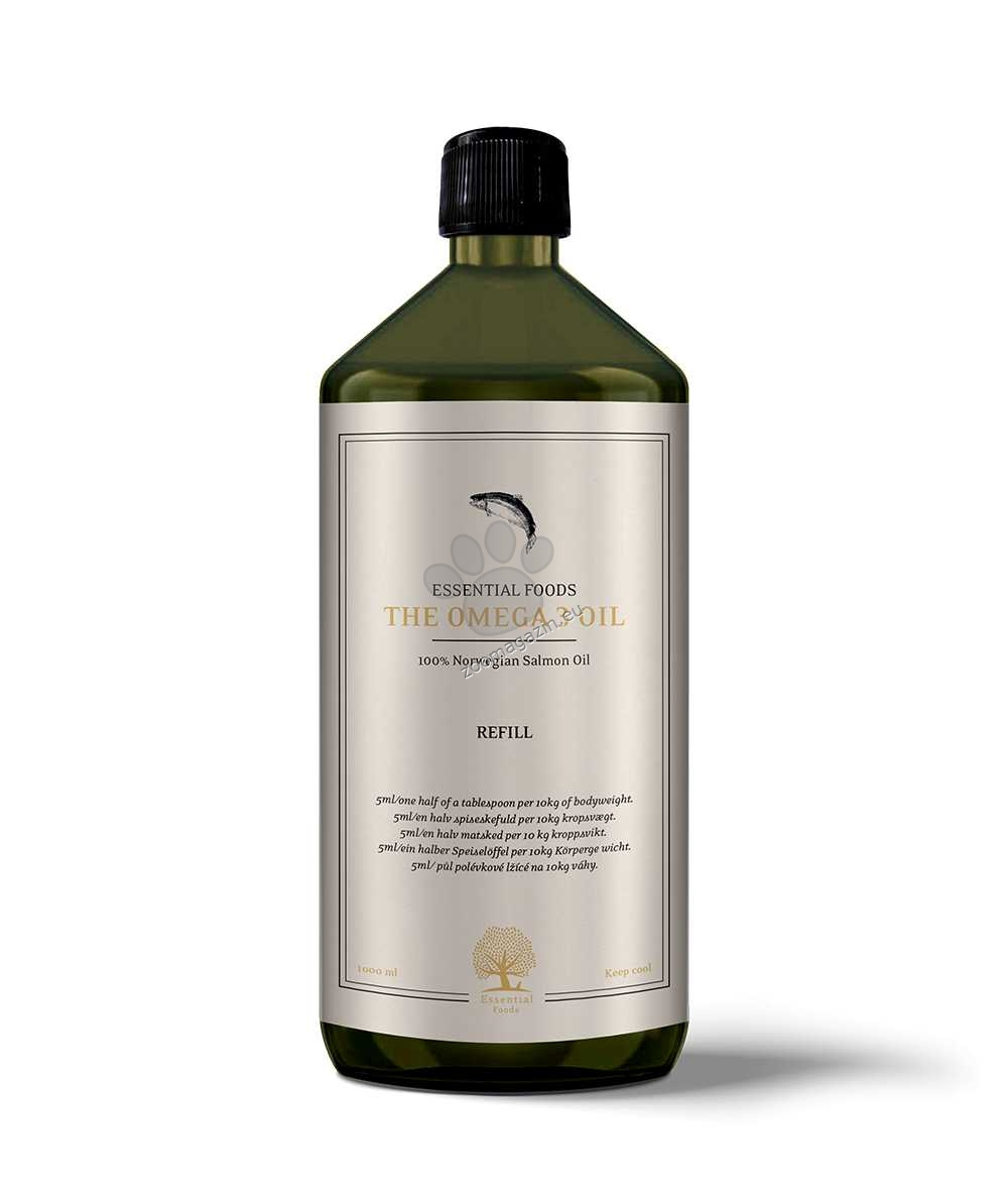 Essential The Omega 3 Oil - изцяло натурална добавка, приготвена от 100% масло от норвежка сьомга, 500 мл.