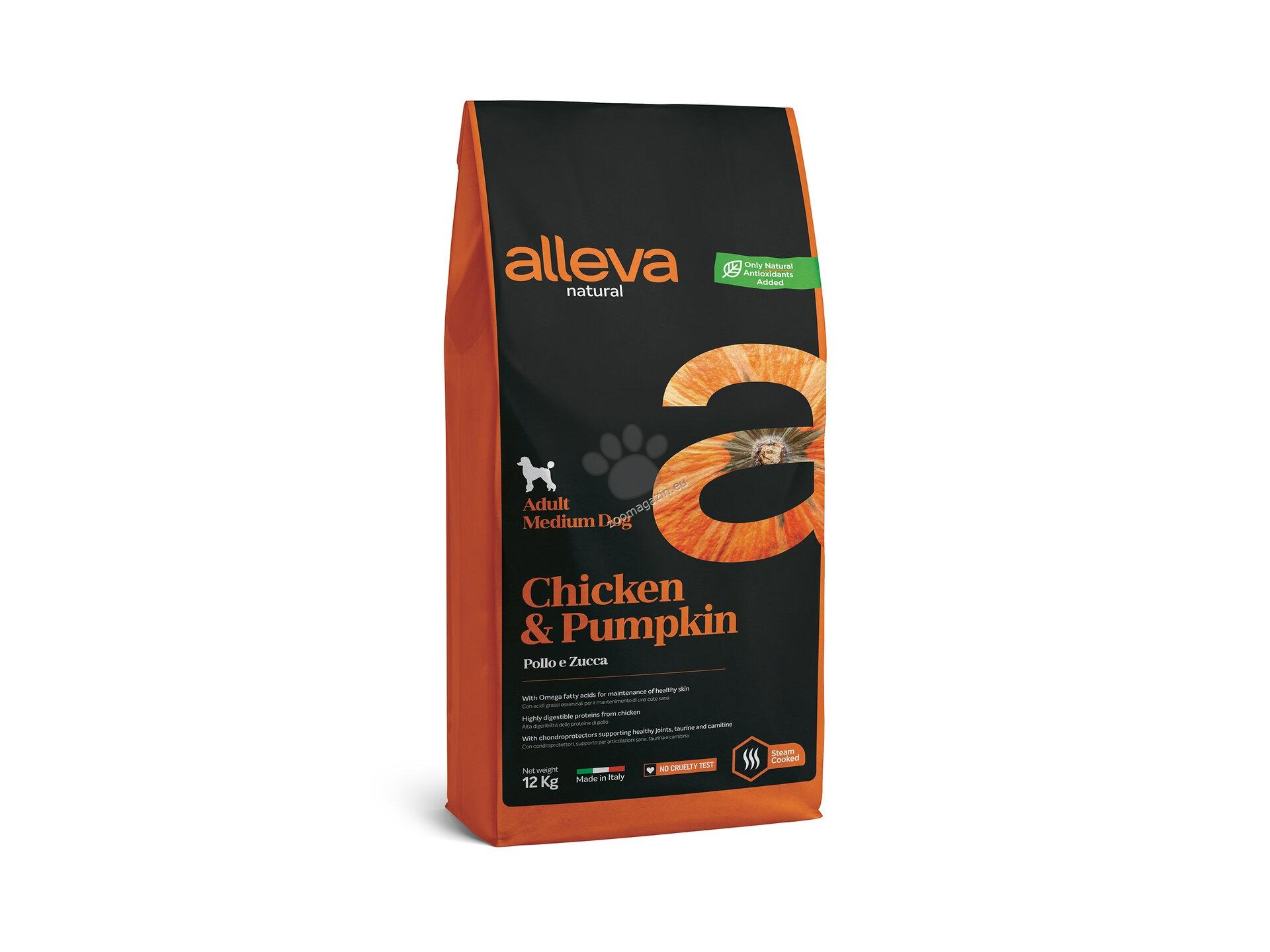 Alleva Natural Adult Medium Chicken & Pumpkin - с пилешко месо, за кучета средни породи / 10-25 кг. / и възраст над 12 месеца 12 кг.