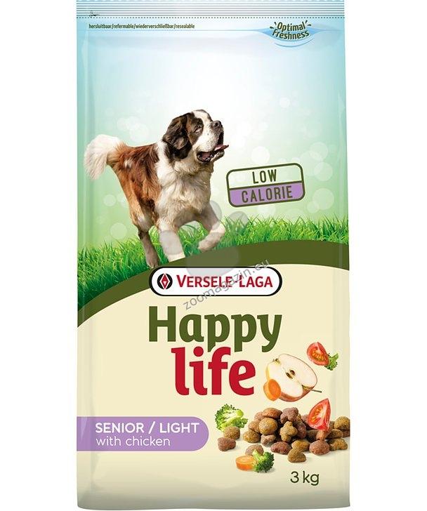 Happy Life Senior/Light Chicken - нискоенергийна храна с пиле за оптимално телесно тегло за възрастни и затлъстели кучета 15 кг.