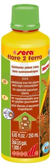 Sera - Flore 2 Ferro - течна добавка с желязо за аквариумни растения 250 мл.