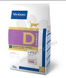 Virbac Dermatology Support - Диетична храна за котки с дерматологични  проблеми 3 кг.